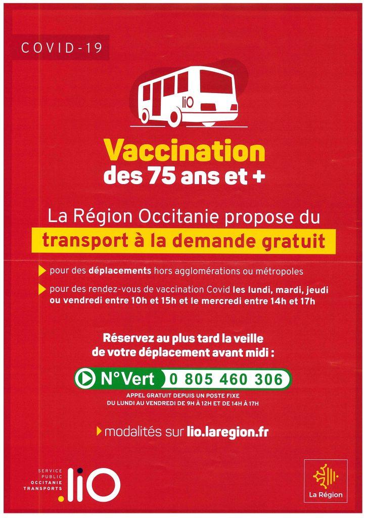 Transport vaccination des 75 ans et +